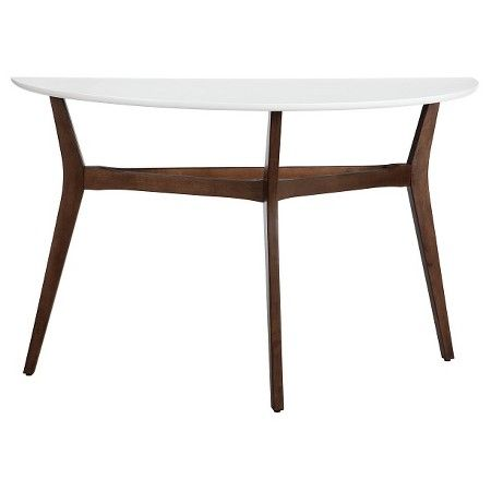 twotone mid century modern console table threshold