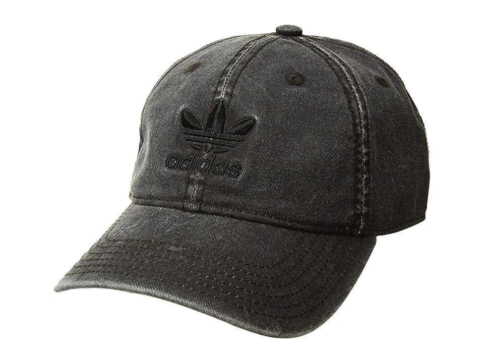 fa4605fd142 adidas Originals Originals Relaxed Strapback Hat (Black Black) Caps. Kick  back with