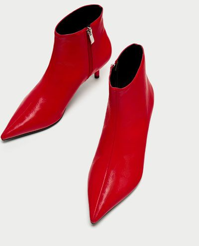 zapatos deportivos a4177 cc747 Imagen 5 de BOTÍN TACÓN MEDIO ROJO de Zara | ZARA y BERSHKA ...
