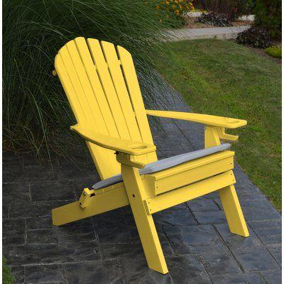 Beachcrest Home Aryana Plastic Folding Adirondack Chair Color