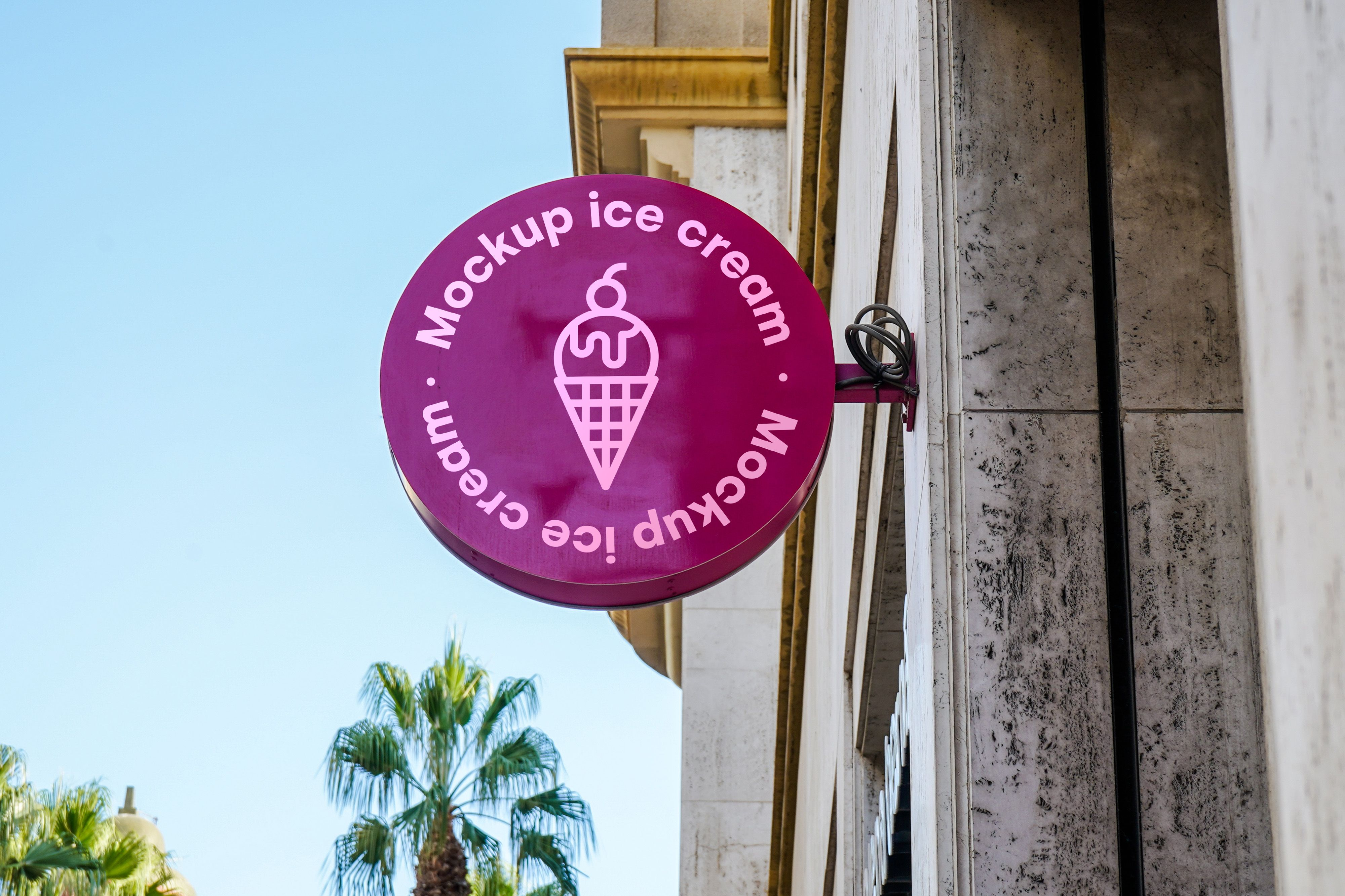 Download mockup sign ice cream city for free in 2020