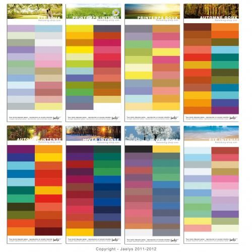 analyse couleurs 4 saisons