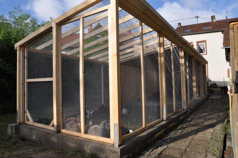 50qm Gehege für Kaninchen Kaninchengehege