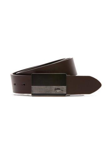90eb3524834ffc Cinturón de cuero con hebilla plana LACOSTE Belt