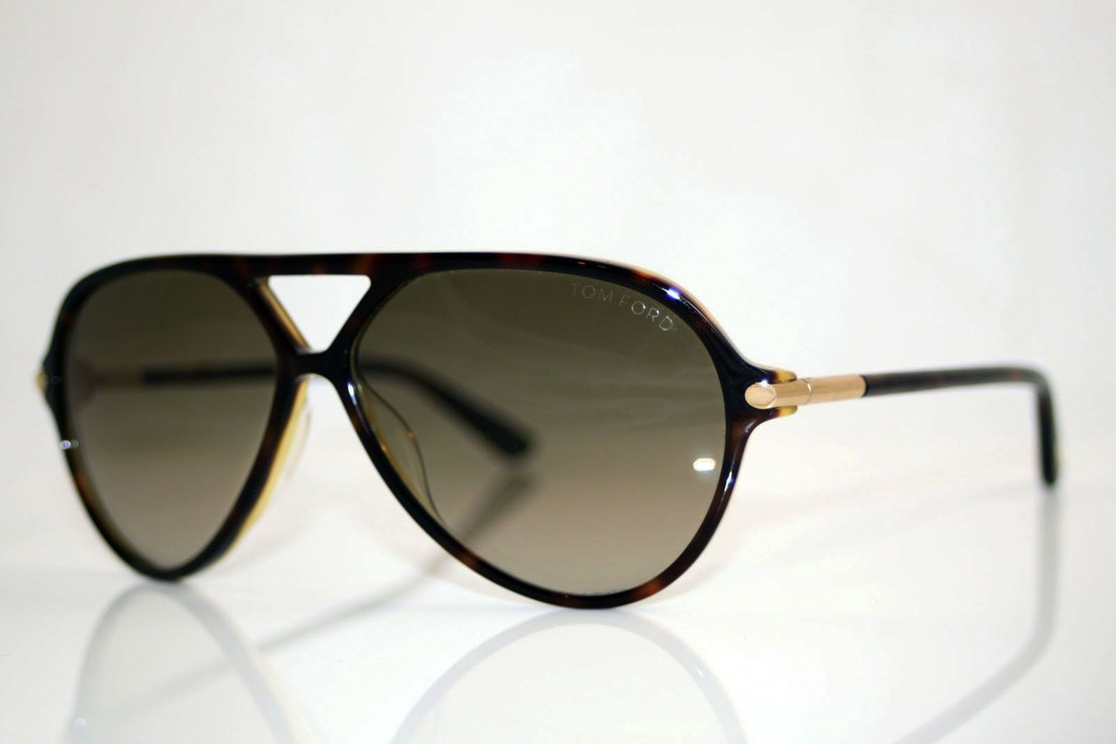 97fee15a01 Tom Ford Sunglasses (Men s Pre-owned Leopold Brown   Black Aviator Sun  Glasses)