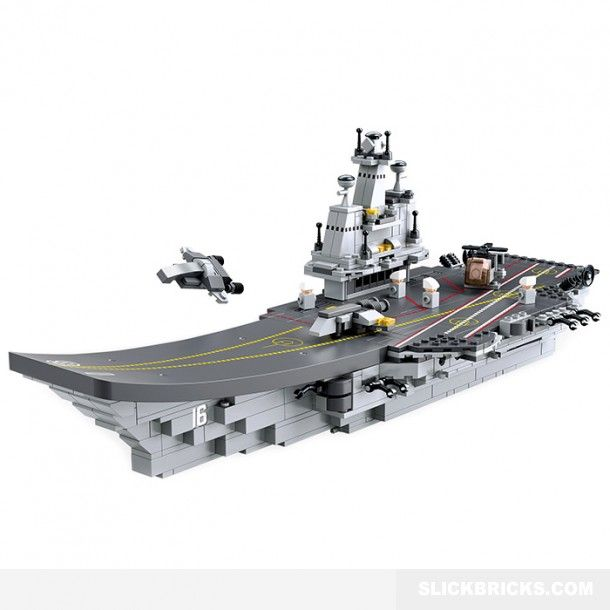 Aircraft Carrier Creative Set - Lego Compatible