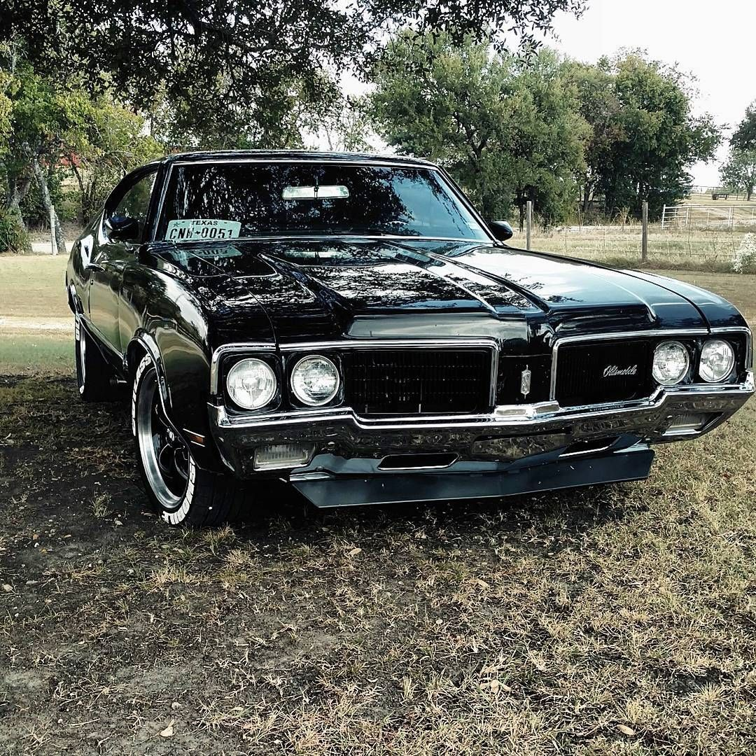 1970 Oldsmobile Cutlass Black Betty Muscle Cars Super Carros Hot Rods