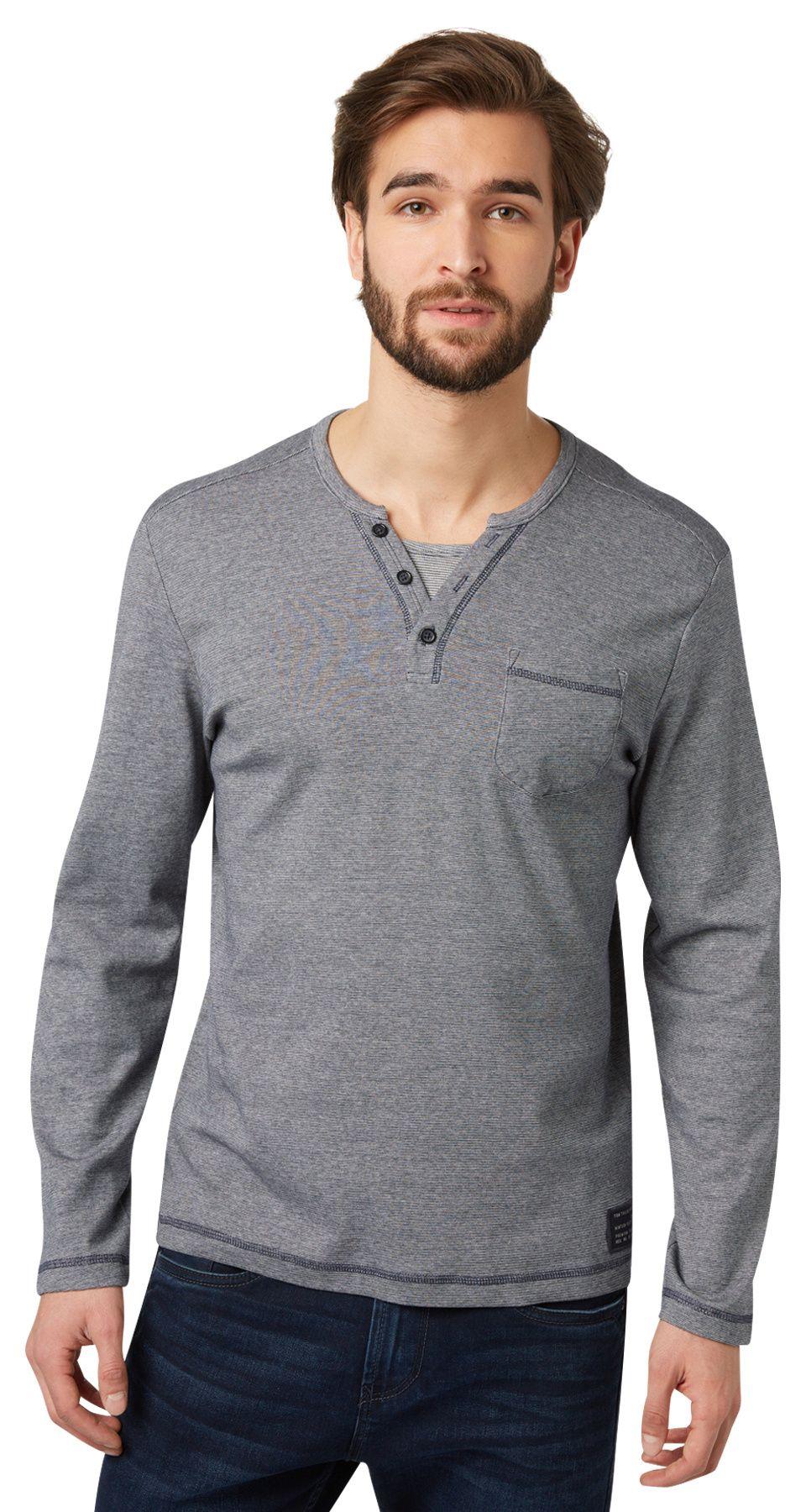TOM TAILOR Mens Longsleeve T-Shirt