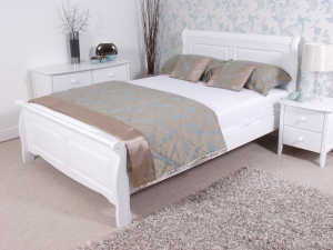 Caprice White Wooden Bed Frame White Wooden Bed Wooden Bed