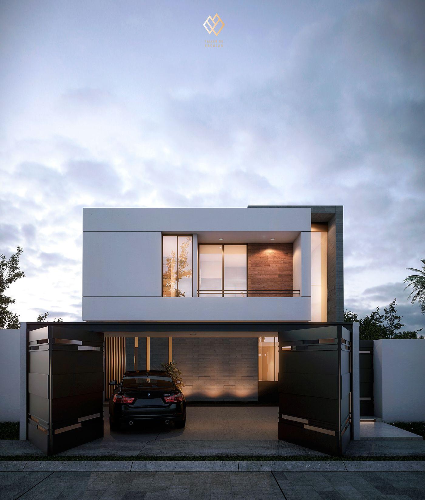 Proyecto residencial en colima m xico casa minimalista for Fachadas de casas nuevas modernas