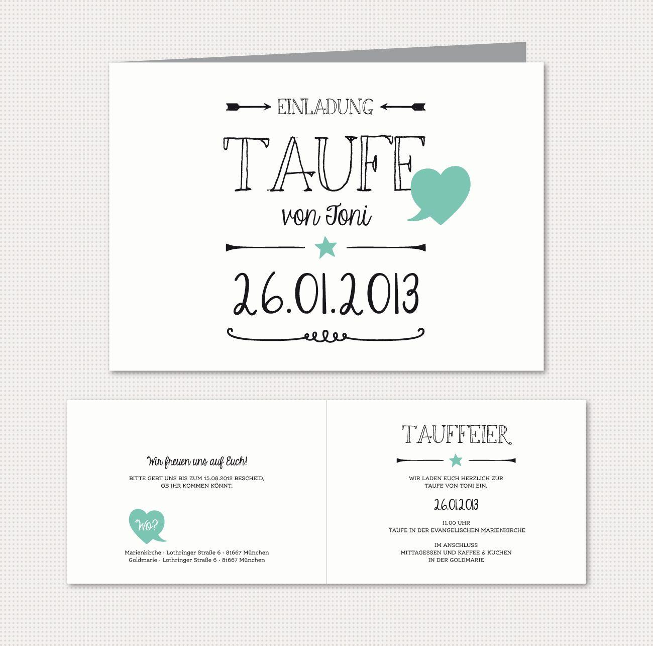 herzlichst - schönes auf papier | babykarten black & white, Einladung