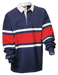 Aro Getting Started Collegiate Stripes Rugby Shirt High School Fashion Mens Tops