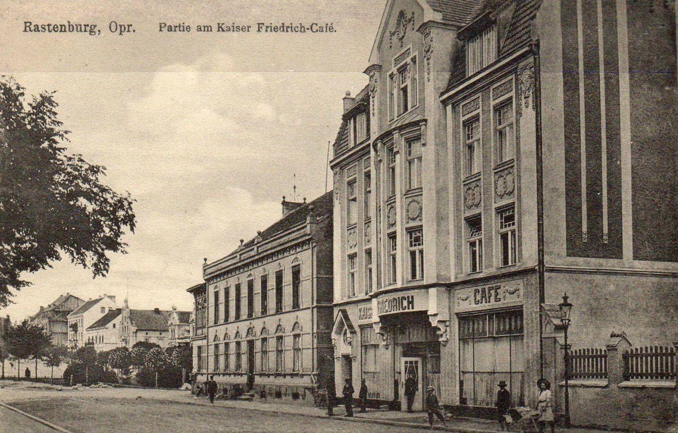 Rastenburg Opr Partie Am Kaiser Friedrich Cafe 27 10 1915 Prussiya Gorod