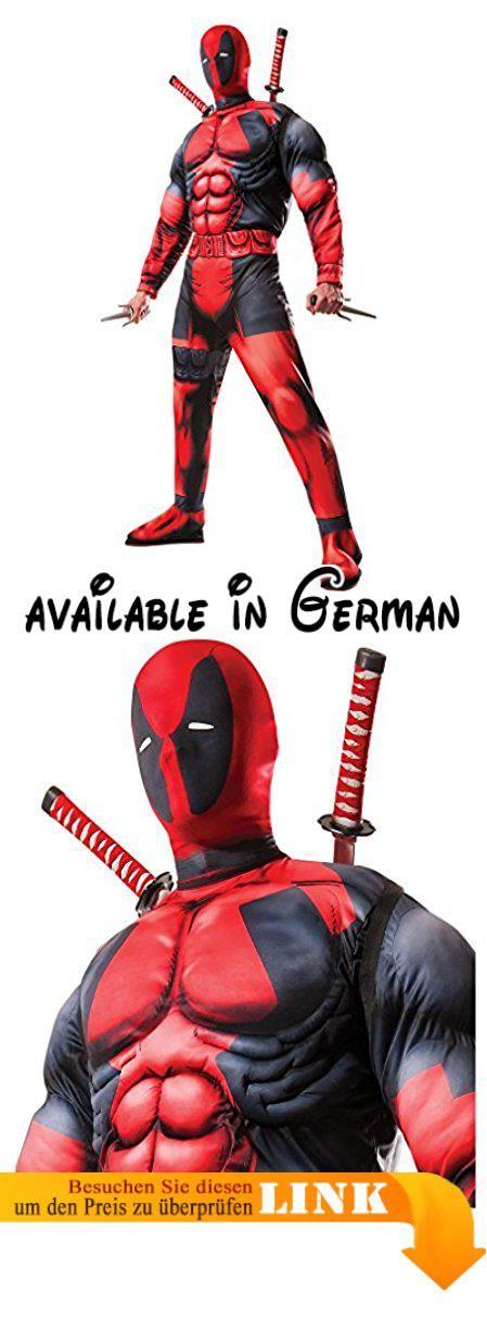 Marvel Deadpool Kostüm mit Deadpool Maske für Halloween, Fasching ...