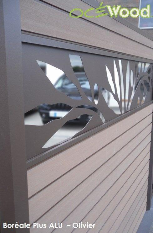panneau composite oc wood avec lame alu olivier. Black Bedroom Furniture Sets. Home Design Ideas