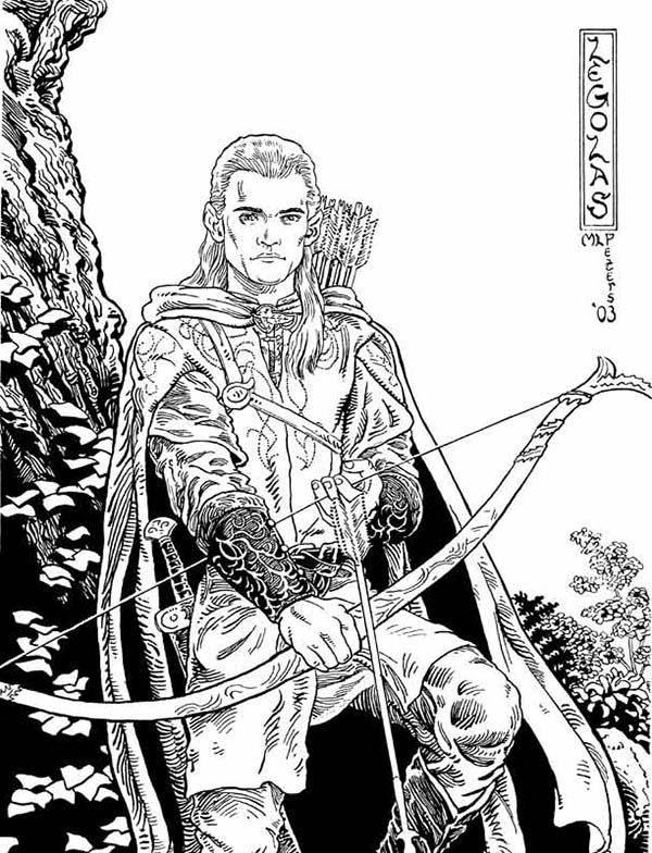 The Lord of The Rings Awesome Picture of Legolas in the Lord of