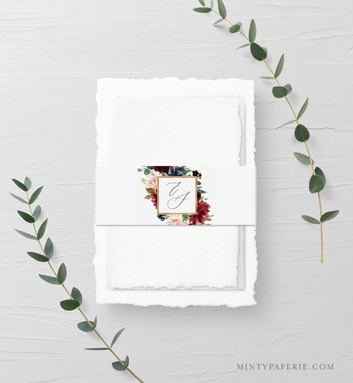 Belly band template instant download printable boho