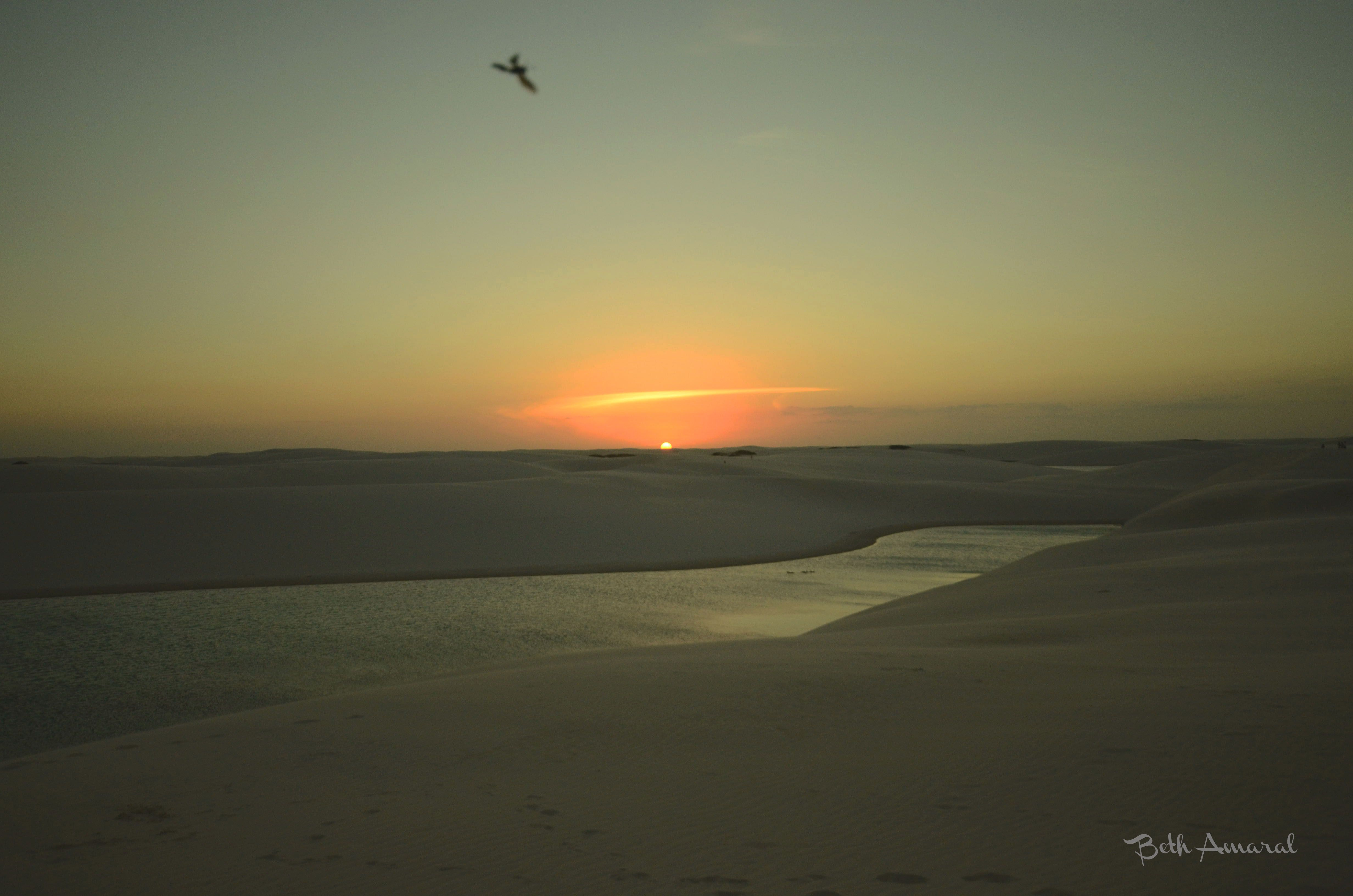 Pôr-do-sol Lençóis Maranhenses