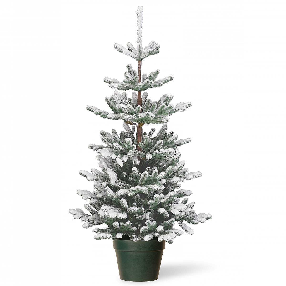 4ft Snowy Imperial Blue Spruce Potted FeelReal Artificial