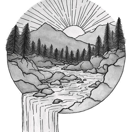 'Mountain Waterfall' by mpmountainworks