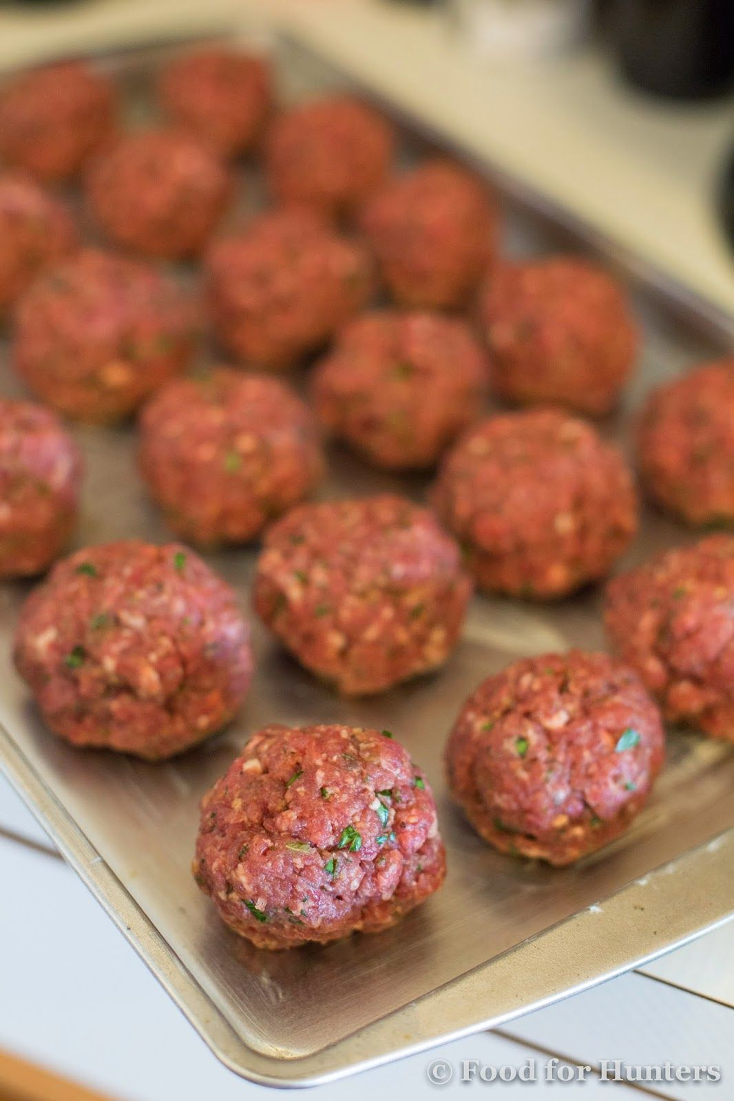 Food For Hunters Basic Italian Venison Meatballs Deer Recipes Deer Meat Recipes Venison Recipes
