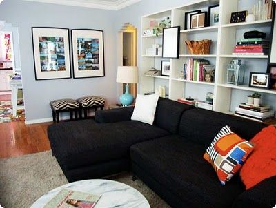Bookcases Behind Sofa Living Room Pinterest