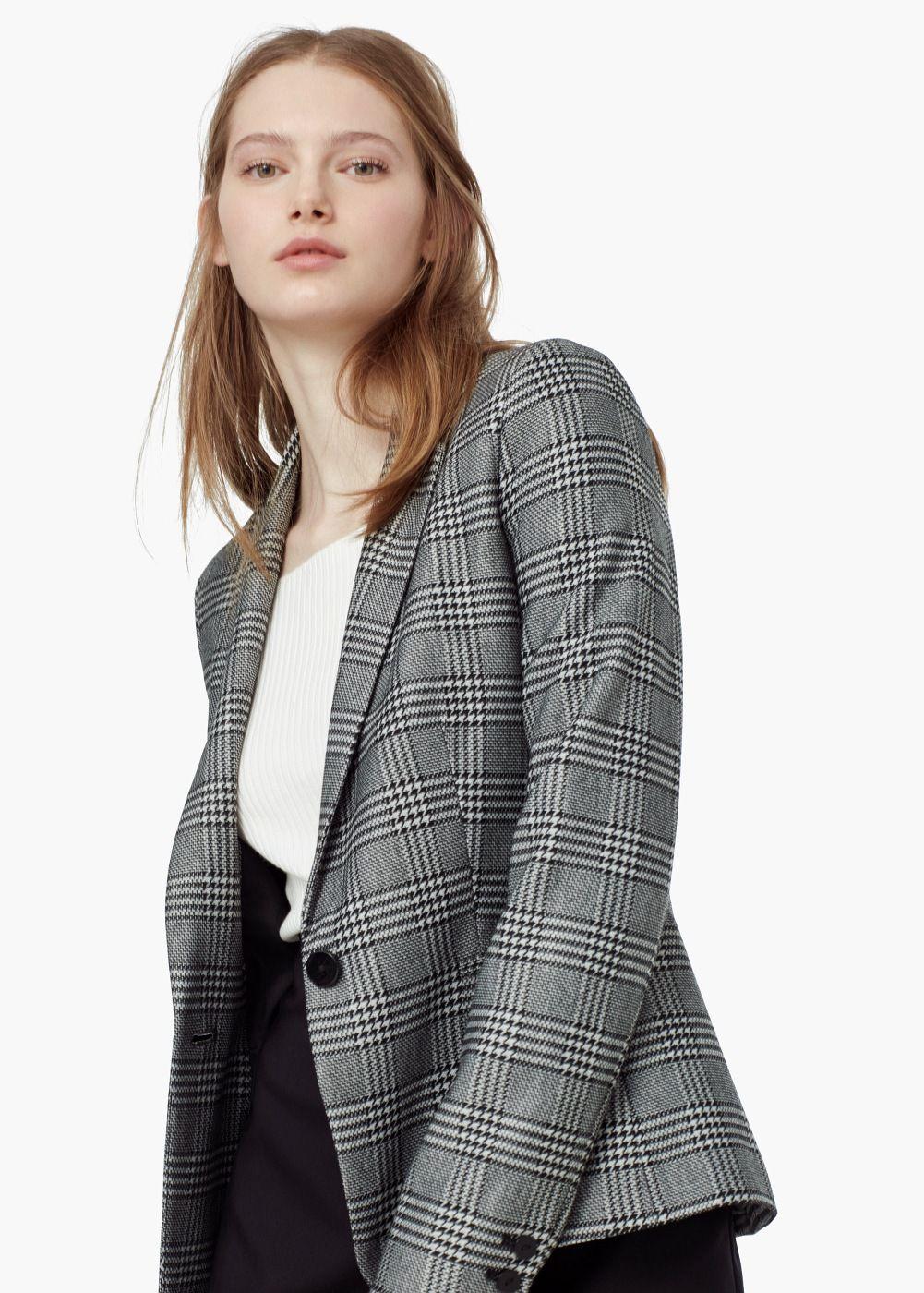 Americana traje cuadros - Mujer en 2019  30a88c6ceb19
