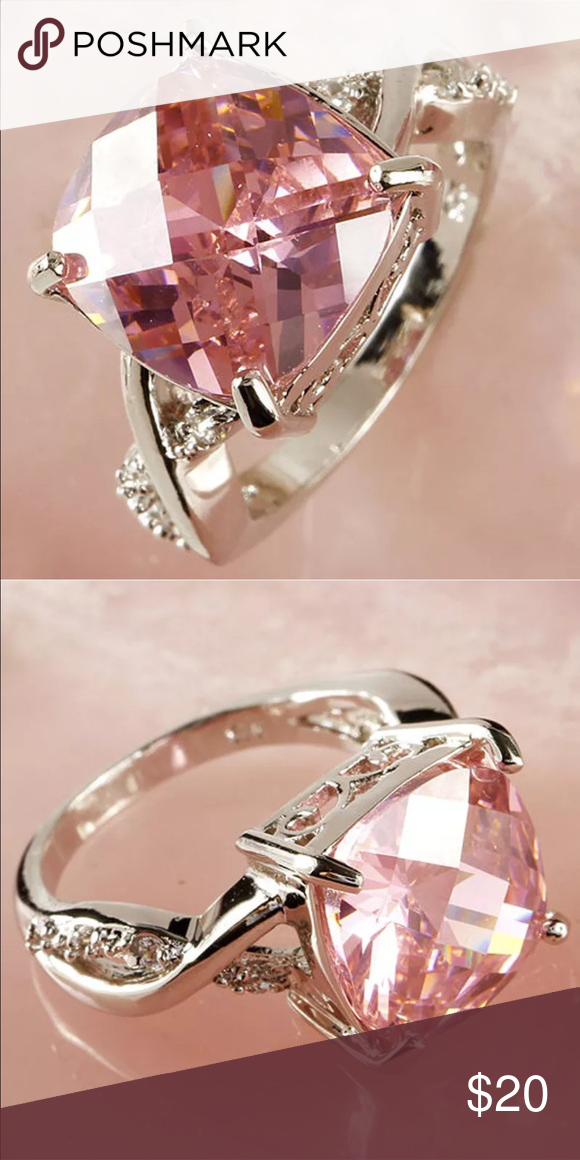 Black Friday Sale Pink Stone Ring Brand New Jewelry Rings