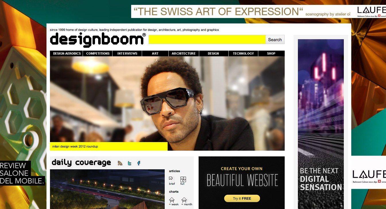 designboom home page (screen shot).