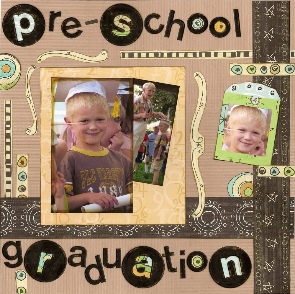 Pre-K Graduation Scrapbook Layout
