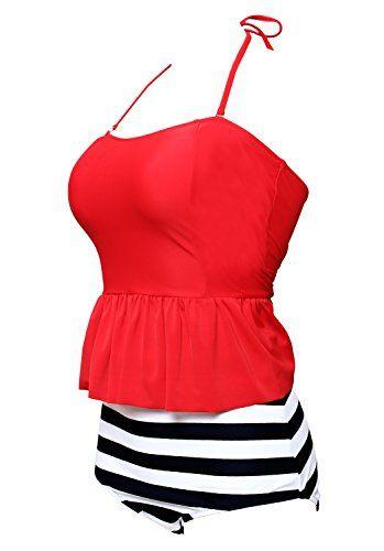 BANDEA Women Bikini 2 Piece Halter Tankini Swimsuit High Waist Swimwear - http://shopping-craze.com/2016/11/06/bandea-women-bikini-2-piece-halter-tankini-swimsuit-high-waist-swimwear/