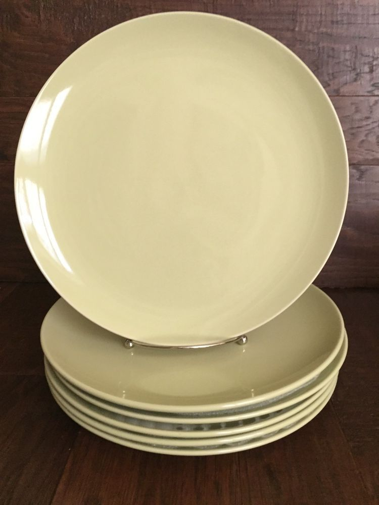 NEW S/6 IKEA FARGRIK GREEN 10 1/2\  DINNER PLATES DESIGNED BY MARIA VINKA & New s/6 ikea fargrik green 10 1/2\
