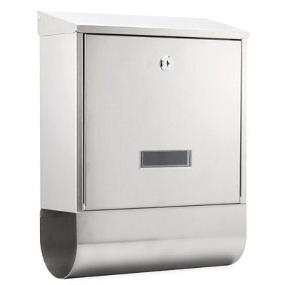 Arboria Stainless Steel Postbox & Newspaper Holder, Metal Mail Letter Box BNIB