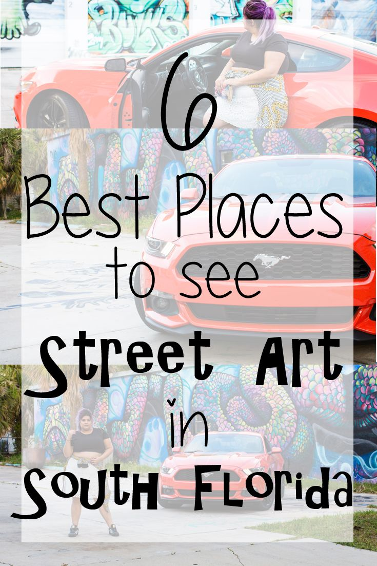 The best places to see street art murals in South Florida, from Palm Beach to Miami! Did one of your favorite destinations make the list?