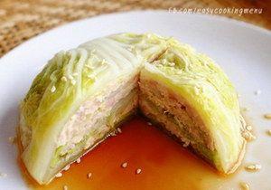 ซาลาเปาผักใส้หมูสับ