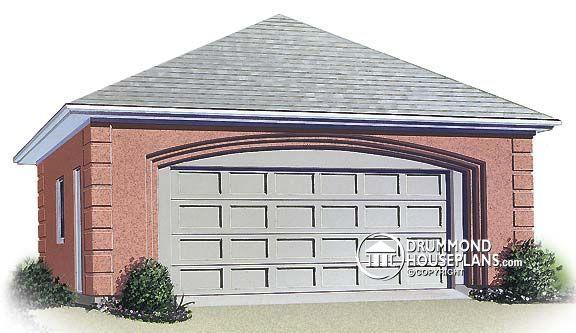 Garage Plan W2976 European Double Garage Style Building A Garage Garage Style Garage House Plans