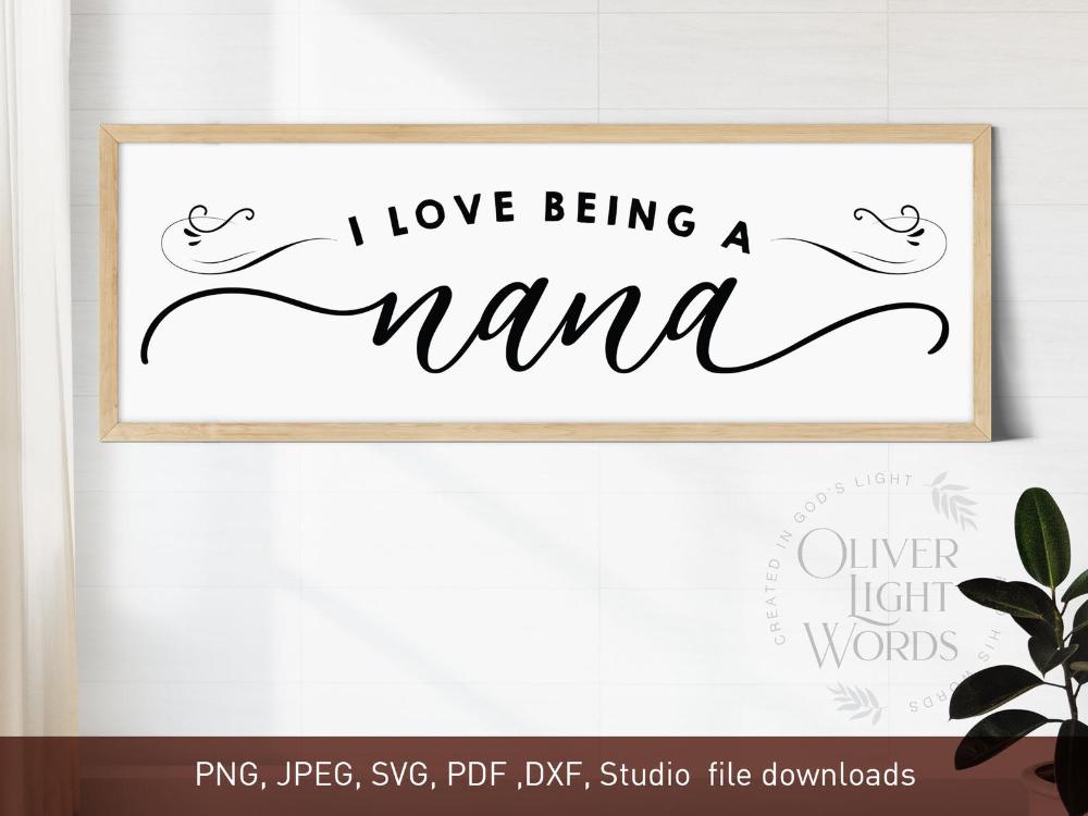 Download I Love Being Nana Shirt, Best Grandma Ever Gifts ...