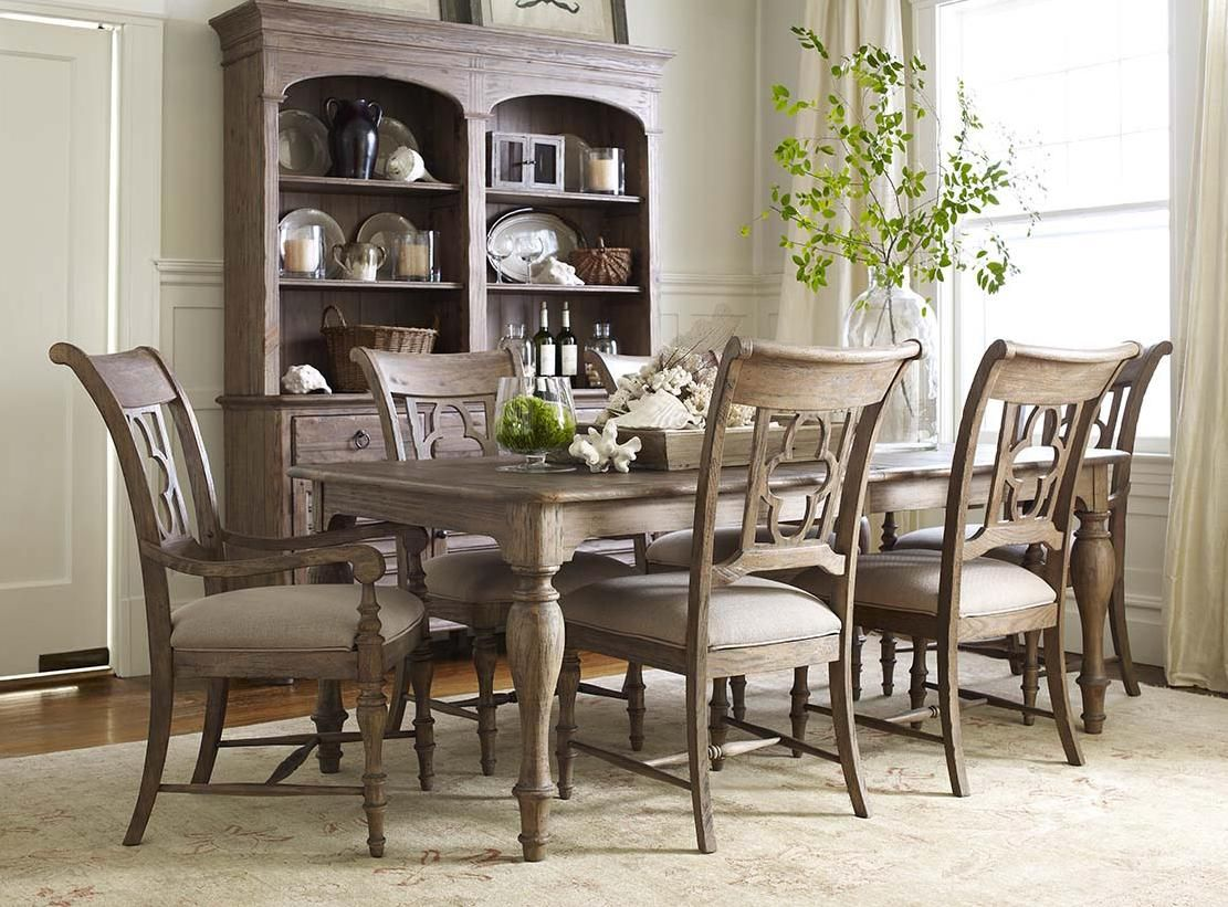 weatherford 7 piece dining set with canterbury table and weatherford 7 piece dining set with canterbury table and quatrefoil back chairs by kincaid furniture