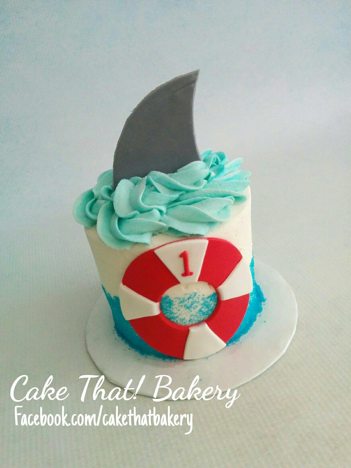 Shark Theme Smash Cake 1st Birthday