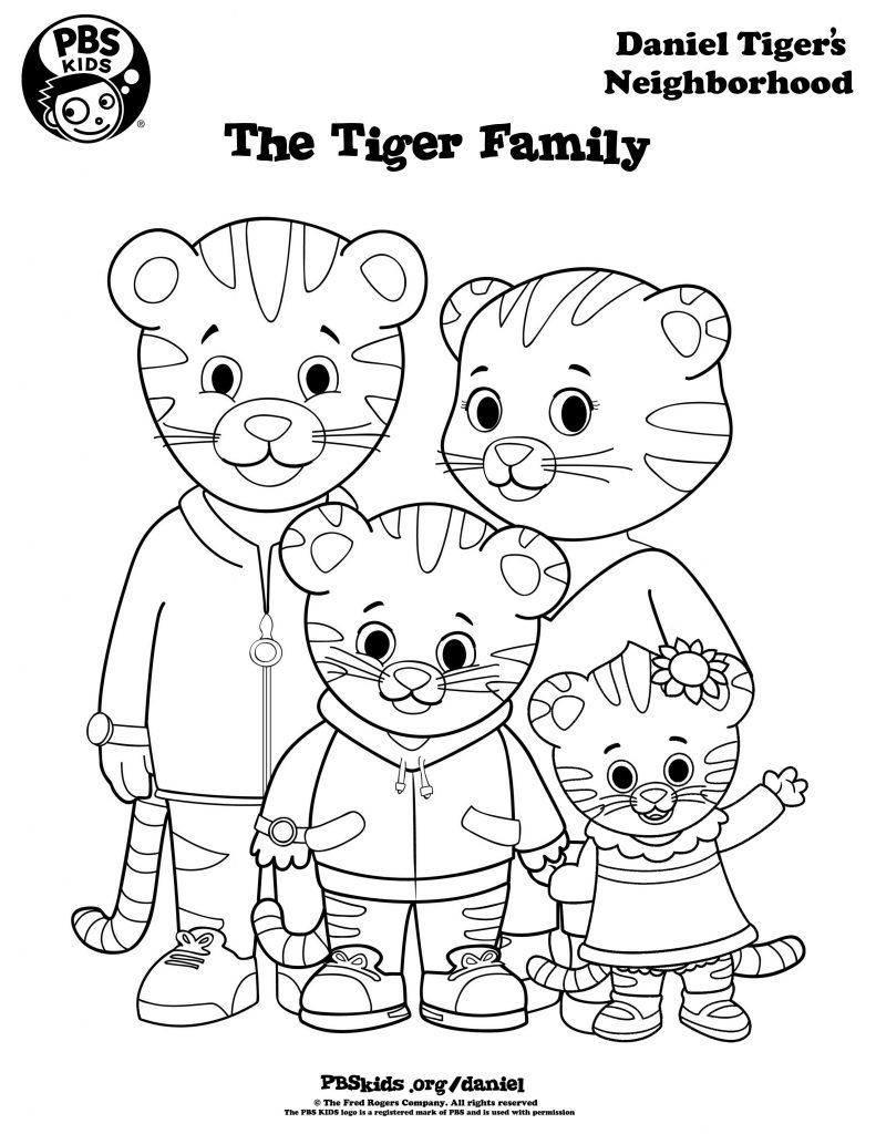 Daniel Tiger Coloring Pages Best Coloring Pages For Kids Daniel Tiger Daniel Tiger S Neighborhood Family Coloring Pages