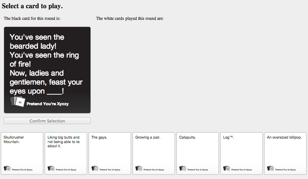 You Can Now Play Cards Against Humanity Online Cards Against Humanity Online Cards Against Humanity Against Humanity