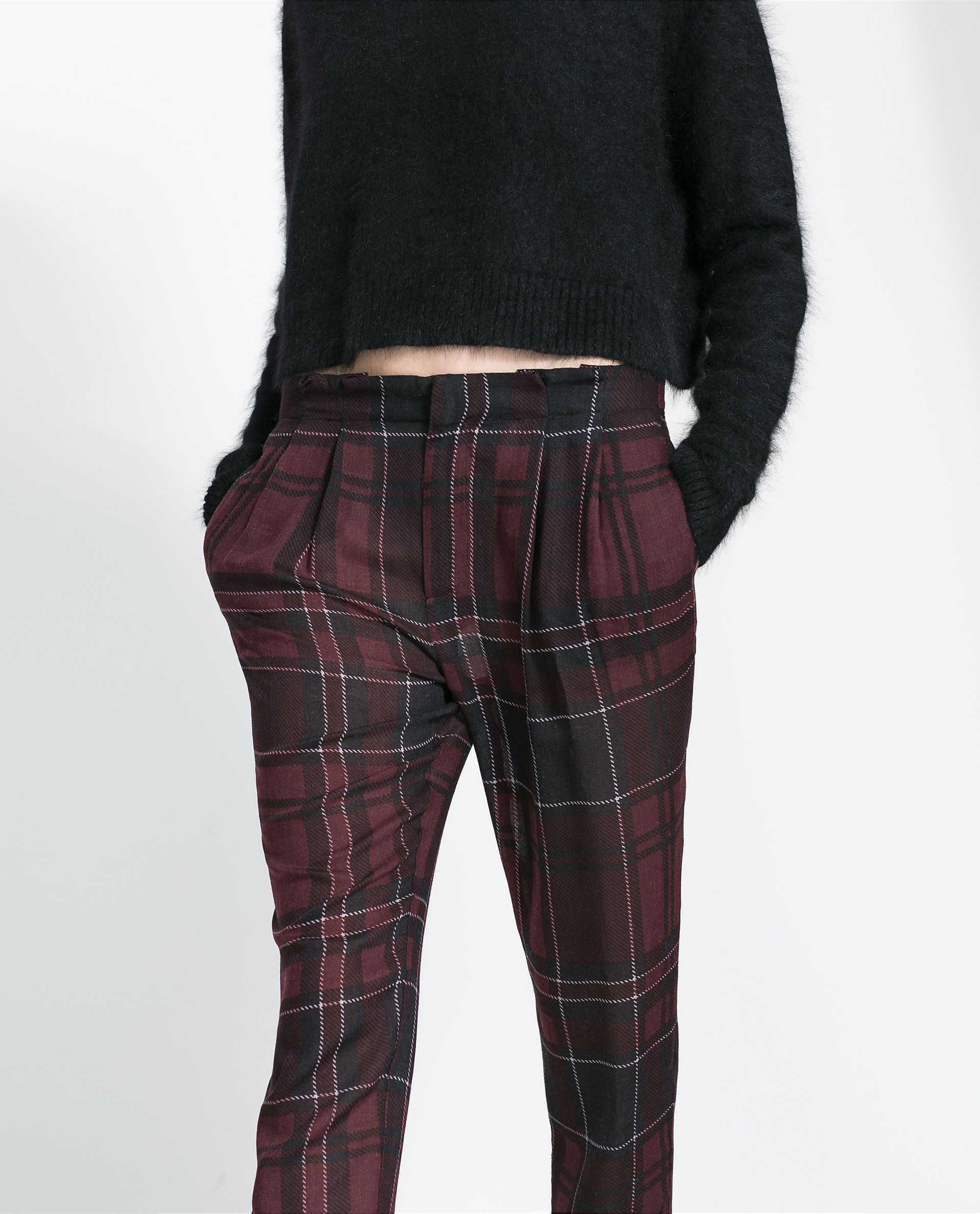 selezione premium 37ca1 8097a CHECKED TROUSERS - Woman - New this week | ZARA Germany ...