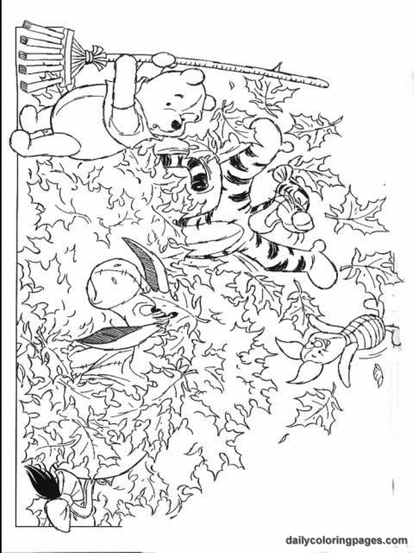Autumn Coloring Pages winnie