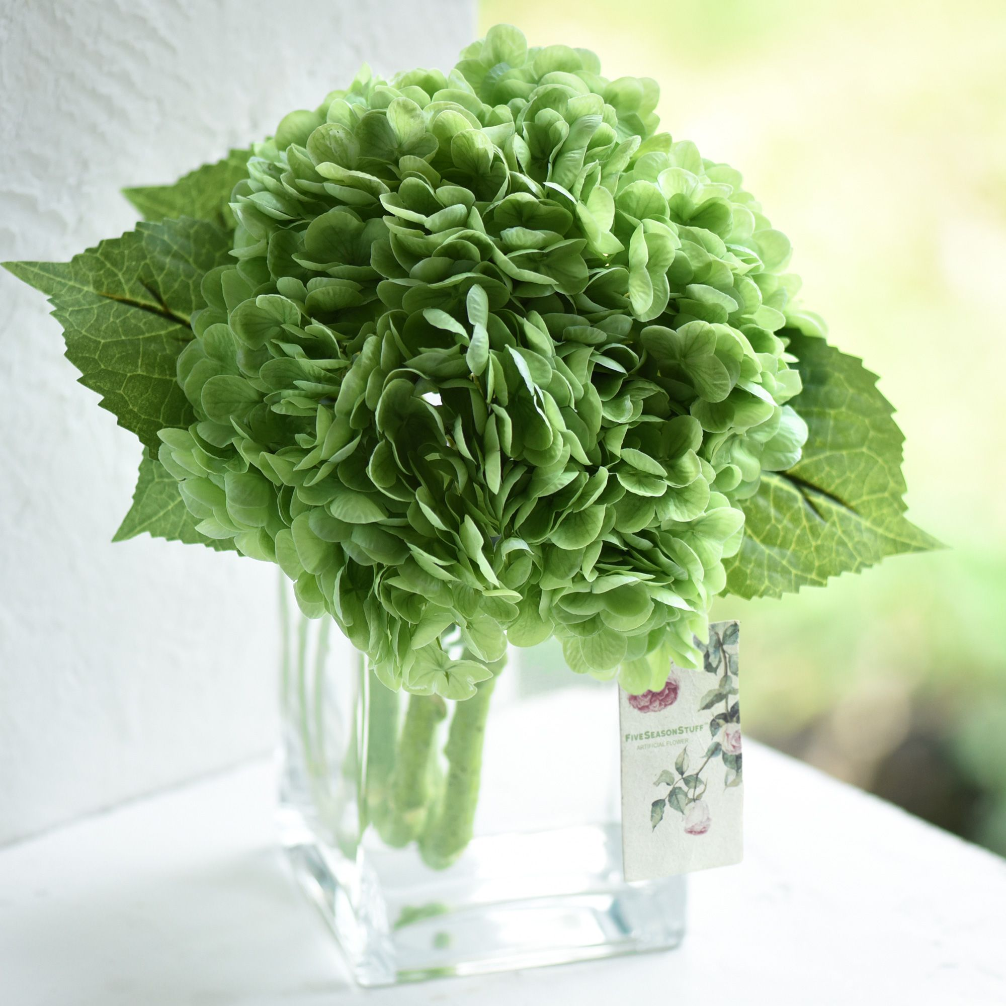 2 Stems Real Touch Petals And Leaves Artificial Hydrangea Flowers Long Stem Floral Arrangement For Wedding Bridal Party Home Decor Diy Floral Decoration Green In 2020 Artificial Hydrangea Flowers Artificial Flowers Hydrangea Flower
