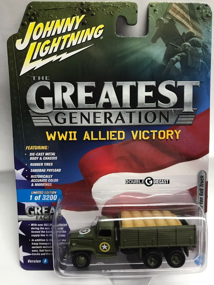 1 64 Johnny Lightning Military R1a Wwii Gmc Cckw 2 1 2 Ton 6x6 Truck 1 Of 3200 Matchbox Cars Custom Toyota Tacoma Hot Wheels Cars