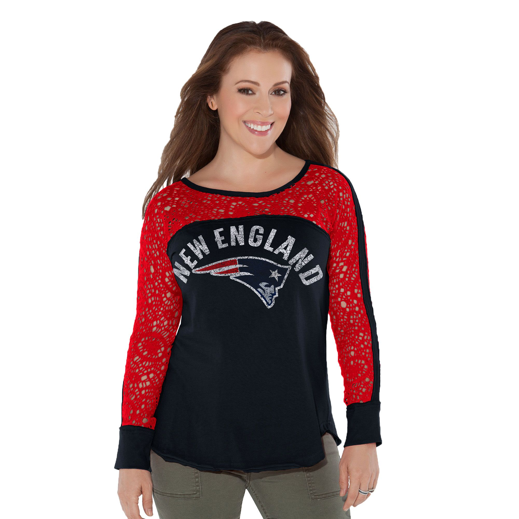 e85c2a8dcfc NFL New England Patriots Touch by Alyssa Milano Women's Playoff T-Shirt -  Navy