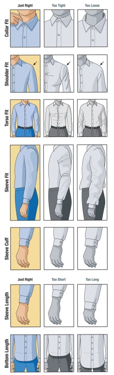 How a Dress Shirt should fit Via www.ditokadum.com. #art #design #tarot reading