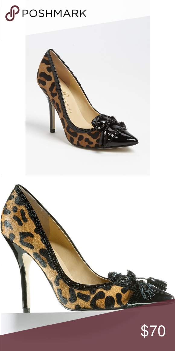 1adcbccb16ab IVANKA TRUMP | Sandra Leopard Cowhide Pumps | 6 •NWT •Leopard/Cheetah Print  •Almond Toe •Loafer-Inspired •Trim, Tailored Look •Approx. heel height: 4