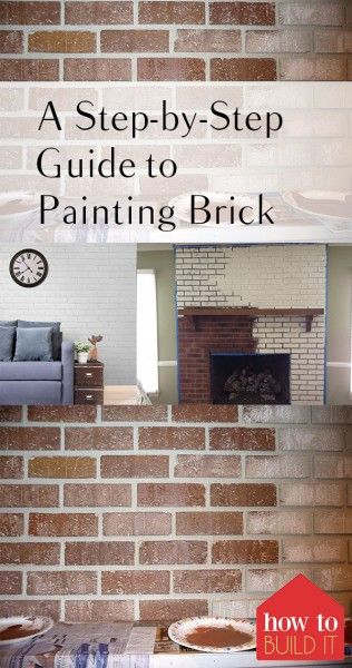 A Step-by-Step Guide to Painting Brick| How to Paint Brick, How to Improve Your Home, Fast Home Improvement Projects, Quick Home Improvement Projects, Painting Projects, How to Paint Brick, Painting Brick Tutorials