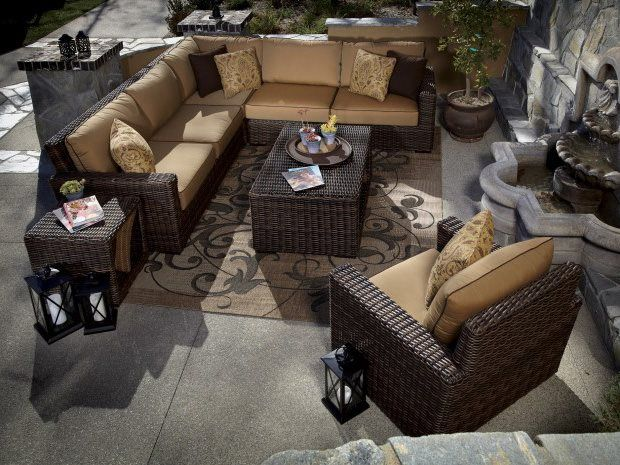 Sunset West Montecito Wicker Lounge Set, Sunset West Outdoor Furniture